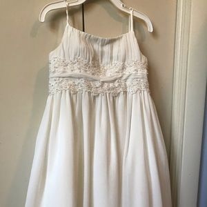 White beaded full length dress